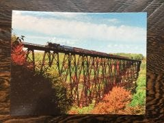 Autumn Train Eagle Eye Photography Post Card
