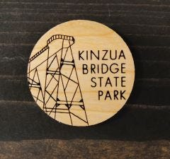 Wooden Skywalk Magnet