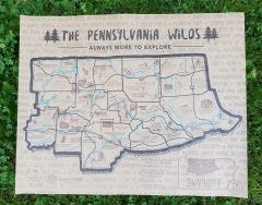 PA Wilds Letterpress Map