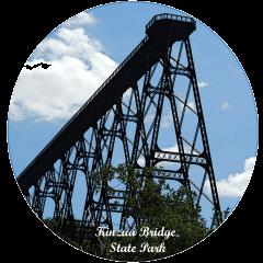 Round Kinzua Bridge State Park Photo Magnet