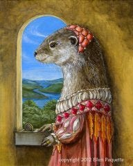 Principessa Lontra river otter portrait art print
