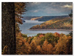 Jumbo Kinzua Reservoir in Autumn Puzzle