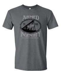 Adult Armed with Ingenuity T-shirt
