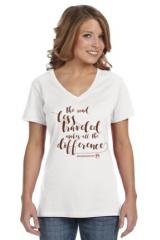 The Road Less Traveled Ladies Short Sleeve Shirt