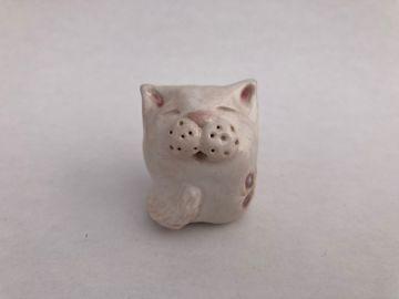 Snowball Stoneware Cat