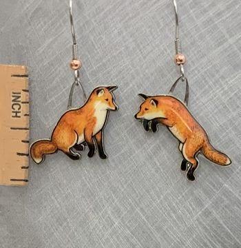 Red Fox Jabebo Earrings