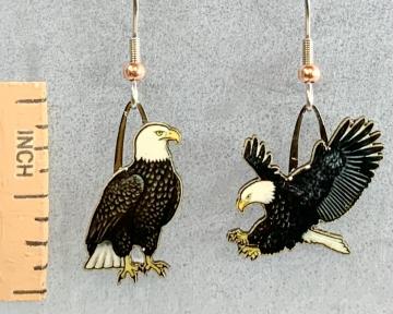 Bald Eagle Jabebo Earrings