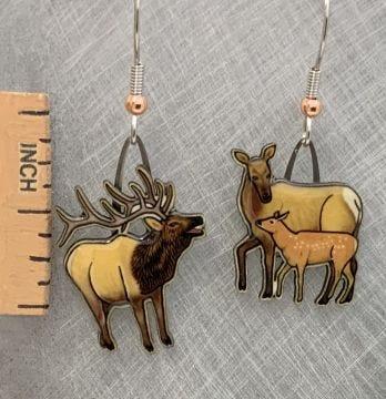 American Elk Jabebo Earrings