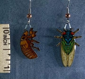 Cicada Jabebo Earrings