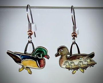 Wood Duck Jabebo Earrings