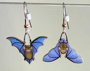 Little Brown Bat Jabebo Earrings