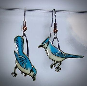 Blue Jay Jabebo Earrings