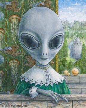 La Turista Renaissance alien portrait