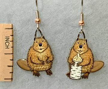 North American Beaver Jabebo Earrings