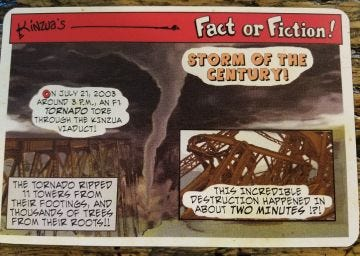 Fact or Fiction Post Cards - Storm of the Century