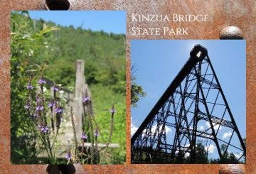 Skywalk and Flowers Post Card