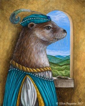 Prince Otto river otter animal portrait art print