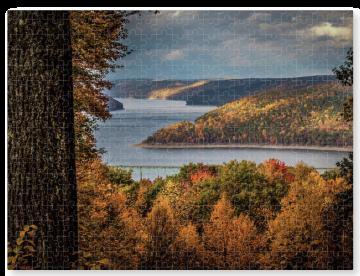 Jumbo Kinzua Reservoir in Autumn Puzzle