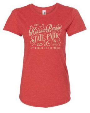 Ladies Vintage Kinzua Bridge Scoop Neck T-Shirt