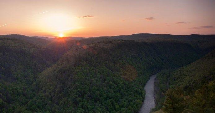 Landscape of Leonard Harrison State Park