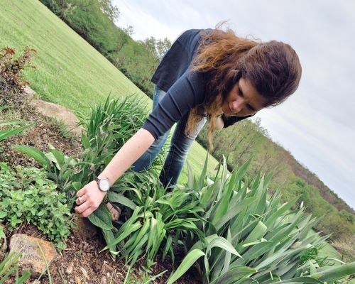 Tara Heckler of Blackberry and Sage Market in her garden