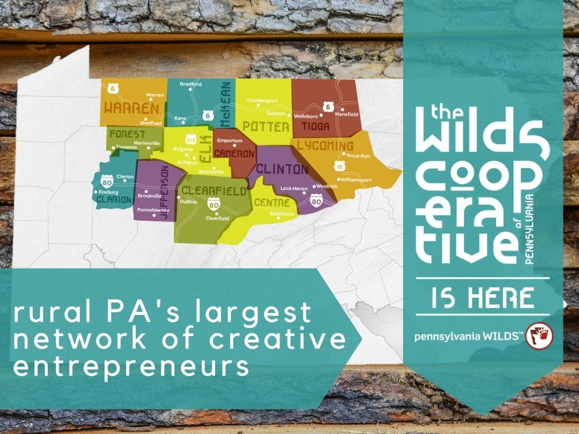rural PA's largest network of creative entrepeneurs map