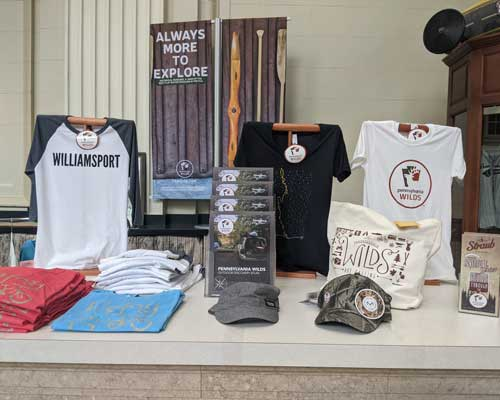 PA Wilds Conservation Shop display