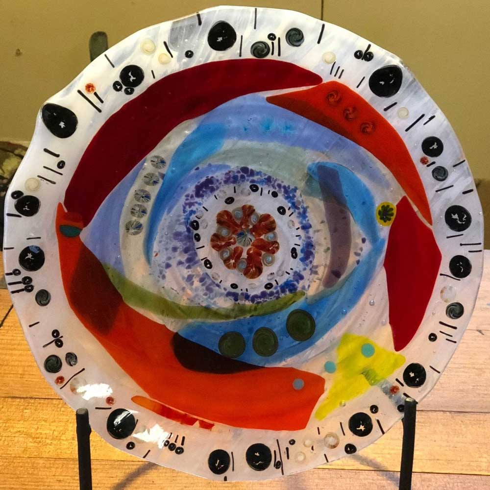 Colorwash Handmade Plate
