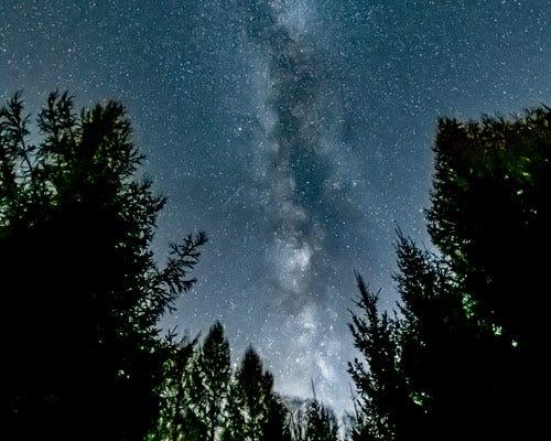 Sky full of stars in Dark Skies Region