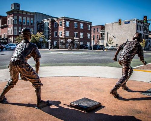 Baseball Statue in I-80 Frontier Region